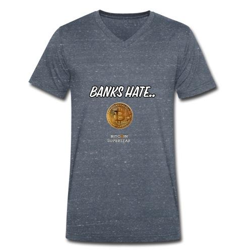 Baks hate - T-shirt ecologica da uomo con scollo a V di Stanley & Stella