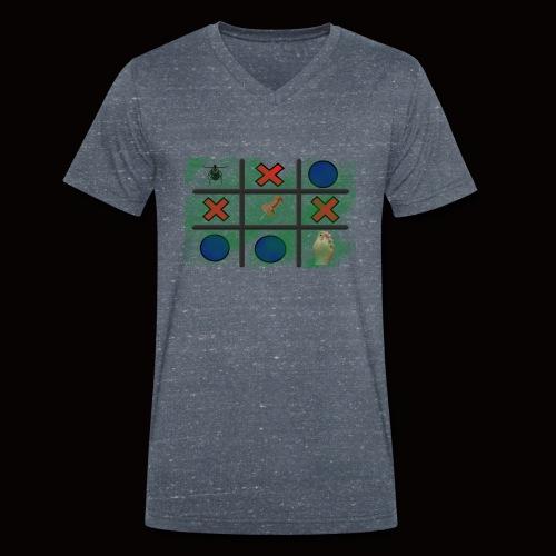Tick, Tack, Toe (Joke Shirt) - Men's Organic V-Neck T-Shirt by Stanley & Stella