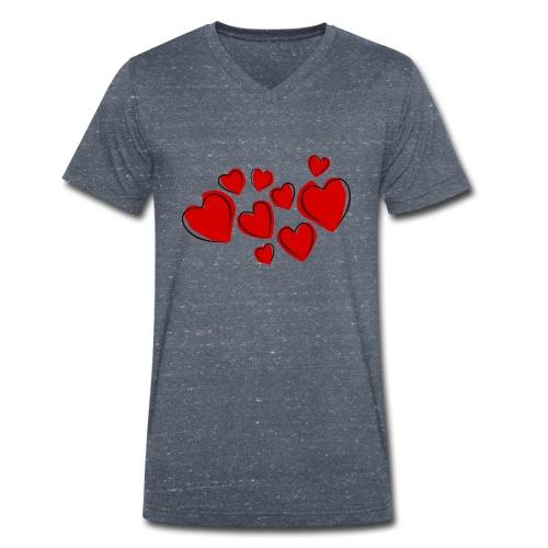 hearts herzen - Männer Bio-T-Shirt mit V-Ausschnitt von Stanley & Stella