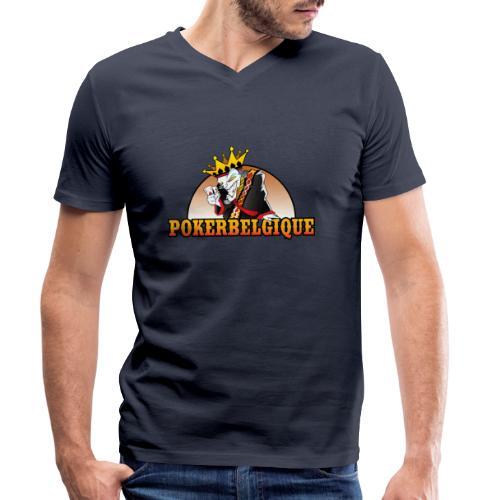 Logo Poker Belgique - T-shirt bio col V Stanley & Stella Homme