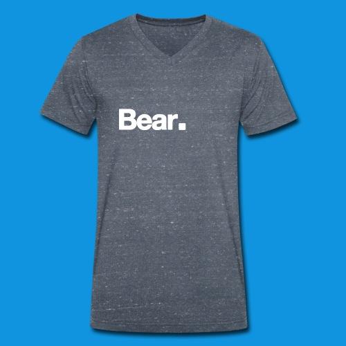 Bear. Retro Bag - Men's Organic V-Neck T-Shirt by Stanley & Stella