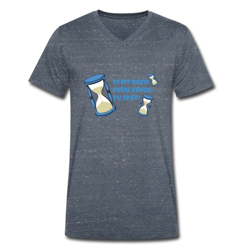 LEBE - bevor Dir die Zeit davon rennt - LEBE! - Männer Bio-T-Shirt mit V-Ausschnitt von Stanley & Stella
