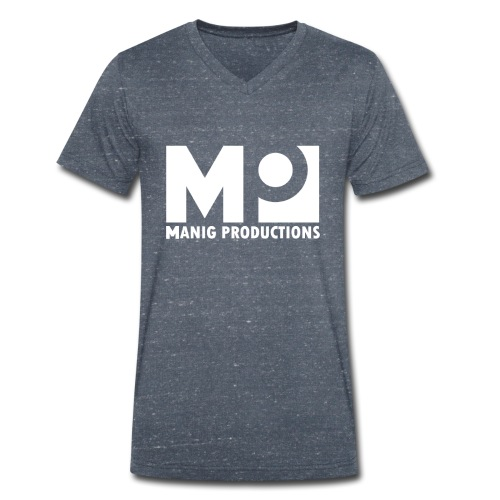 ManigProductions White Transparent png - Men's Organic V-Neck T-Shirt by Stanley & Stella