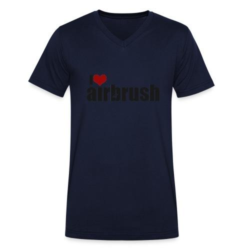 I Love airbrush - Männer Bio-T-Shirt mit V-Ausschnitt von Stanley & Stella