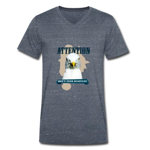 ATTENTION - don't feed seagulls - Männer Bio-T-Shirt mit V-Ausschnitt von Stanley & Stella