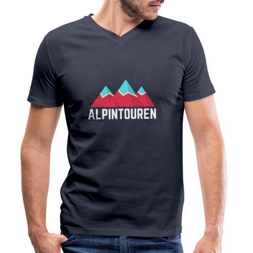 Alpintouren Logo - Männer Bio-T-Shirt mit V-Ausschnitt von Stanley & Stella