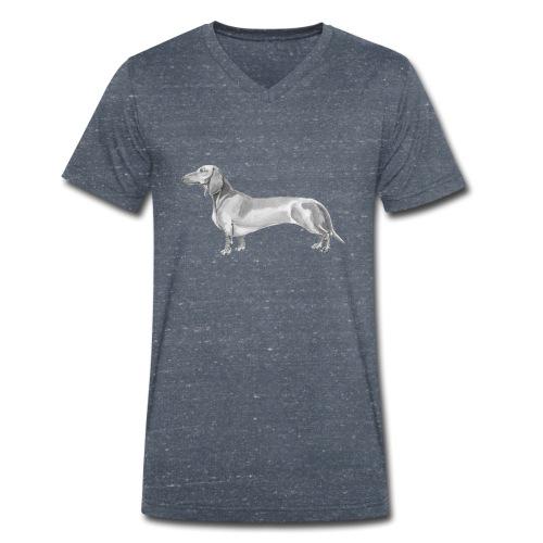Dachshund smooth haired - Økologisk Stanley & Stella T-shirt med V-udskæring til herrer