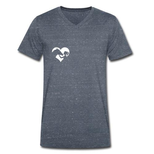 Horse Girlie Heart green - Männer Bio-T-Shirt mit V-Ausschnitt von Stanley & Stella