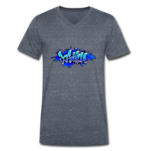 GRAFFITI JOSHUA WALL BROKEN BLUE - T-shirt bio col V Stanley & Stella Homme