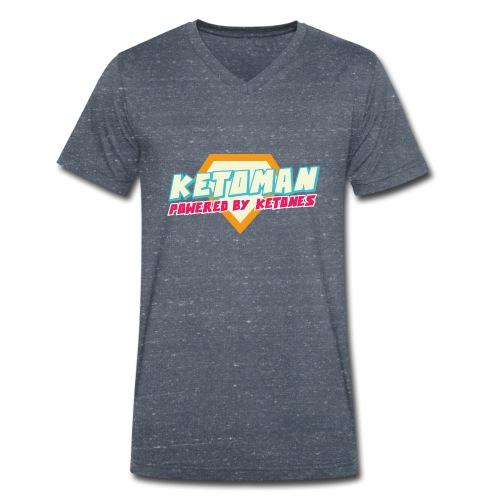 Keto Shirt Mann Diät - Männer Bio-T-Shirt mit V-Ausschnitt von Stanley & Stella