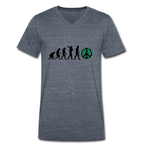 Evolution Cannabis - Männer Bio-T-Shirt mit V-Ausschnitt von Stanley & Stella