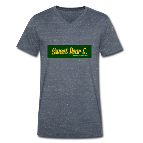 Sweet Dear G Groen Geel - Mannen bio T-shirt met V-hals van Stanley & Stella