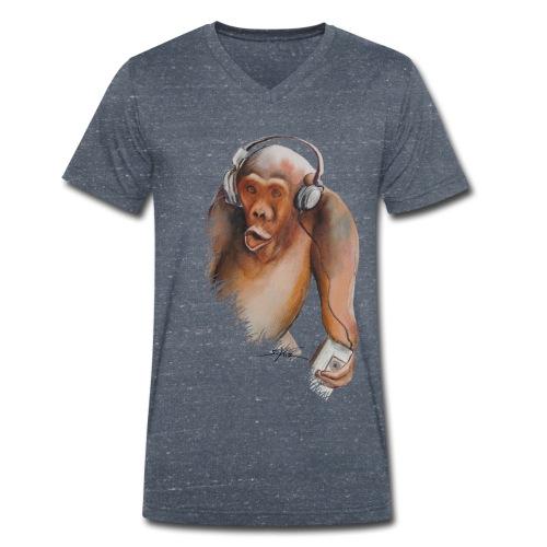 Singe old fashion - T-shirt bio col V Stanley & Stella Homme