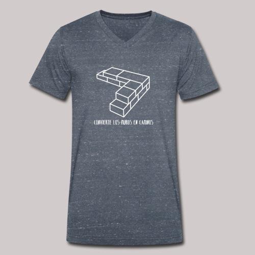 Convierte muros en caminos - Camiseta ecológica hombre con cuello de pico de Stanley & Stella