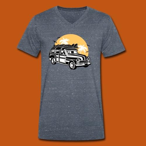 Chevy Cadilac Woodie / Oldtimer Kombi 01_3c - Männer Bio-T-Shirt mit V-Ausschnitt von Stanley & Stella
