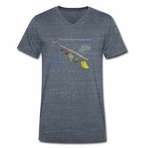 Experimental Musical Instruments - Flute Fruit - Men's Organic V-Neck T-Shirt by Stanley & Stella