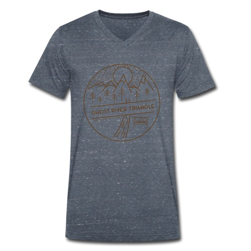 A Ghost River Triangle Welcome - Men's Organic V-Neck T-Shirt by Stanley & Stella