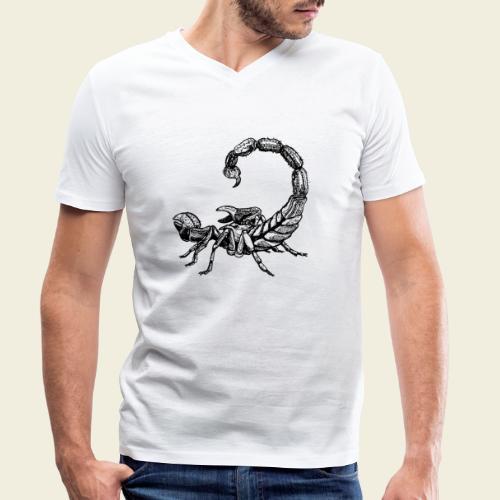 Skorpion - Männer Bio-T-Shirt mit V-Ausschnitt von Stanley & Stella