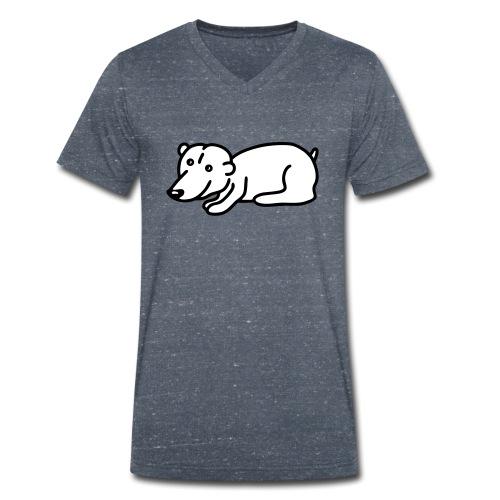 Baby Eisbär - V2 - Männer Bio-T-Shirt mit V-Ausschnitt von Stanley & Stella
