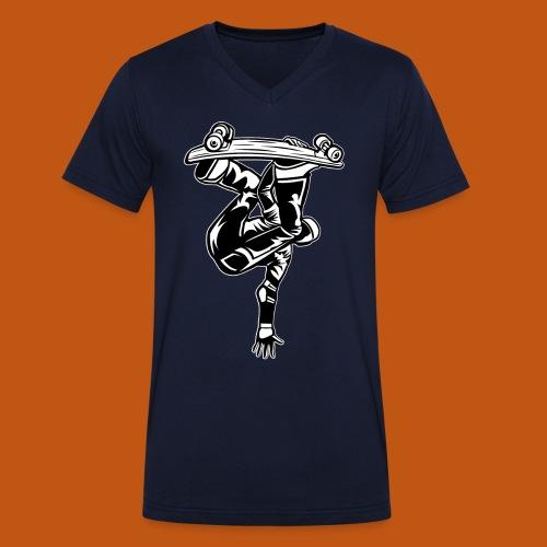Skater / Skateboarder 03_schwarz weiß - Männer Bio-T-Shirt mit V-Ausschnitt von Stanley & Stella