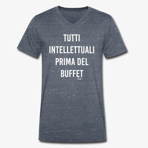tutti intellettuali prima del buffet - T-shirt ecologica da uomo con scollo a V di Stanley & Stella