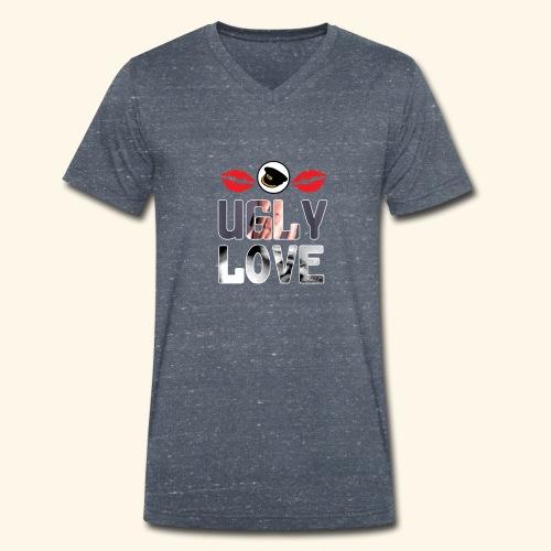 Ugly Love - Men's Organic V-Neck T-Shirt by Stanley & Stella