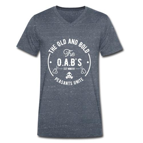 OAB unite white - Men's Organic V-Neck T-Shirt by Stanley & Stella