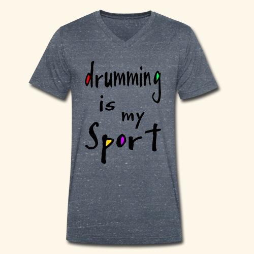 drumming - Männer Bio-T-Shirt mit V-Ausschnitt von Stanley & Stella