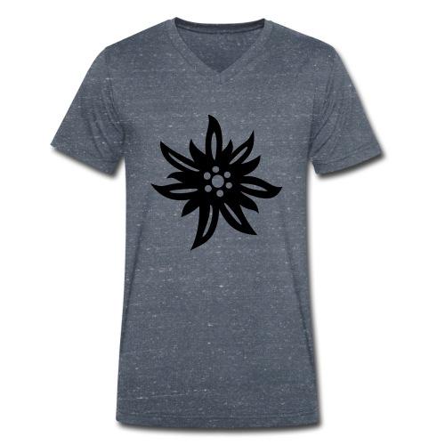 Edelweiss - Männer Bio-T-Shirt mit V-Ausschnitt von Stanley & Stella