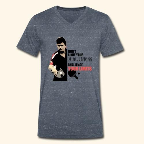 Don't limit your challenge, challenge your limit - Männer Bio-T-Shirt mit V-Ausschnitt von Stanley & Stella