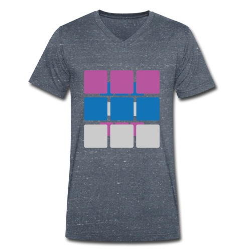 Squares - Men's Organic V-Neck T-Shirt by Stanley & Stella