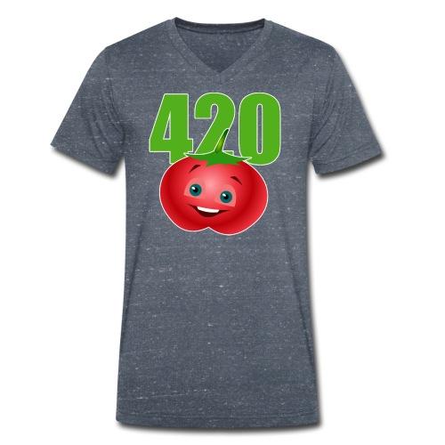 Tomate 420 - Männer Bio-T-Shirt mit V-Ausschnitt von Stanley & Stella