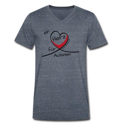 Ein Herz für Autisten - Männer Bio-T-Shirt mit V-Ausschnitt von Stanley & Stella