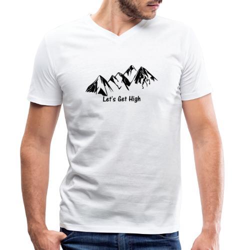 Let's get hight (in the mountains) - Dunkel - Männer Bio-T-Shirt mit V-Ausschnitt von Stanley & Stella