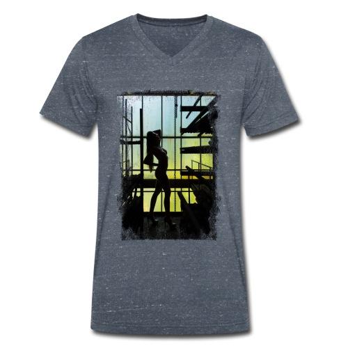 Abandoned Silhoutte (Grunge) - Männer Bio-T-Shirt mit V-Ausschnitt von Stanley & Stella