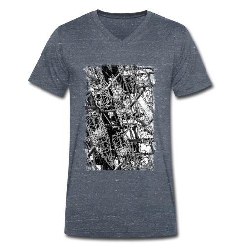 Duga (schwarz/weiss) - Männer Bio-T-Shirt mit V-Ausschnitt von Stanley & Stella