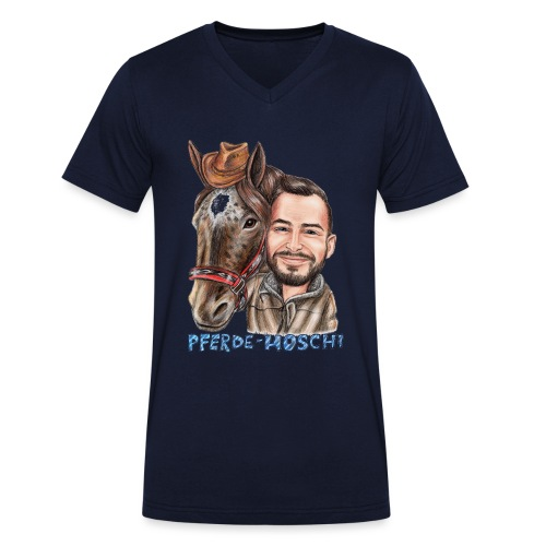 Pferde-Hoschi Kollektion hinten - Männer Bio-T-Shirt mit V-Ausschnitt von Stanley & Stella