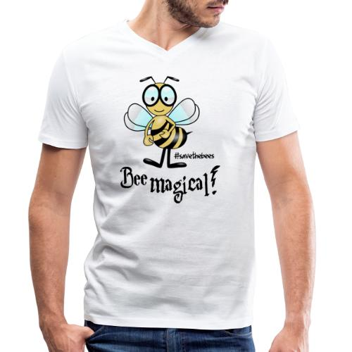 Bees10 - bees are magical | save the bees - Men's Organic V-Neck T-Shirt by Stanley & Stella