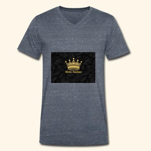 youtube design - Men's Organic V-Neck T-Shirt by Stanley & Stella