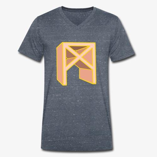 Rune Mannaz in Living-Coral - Männer Bio-T-Shirt mit V-Ausschnitt von Stanley & Stella