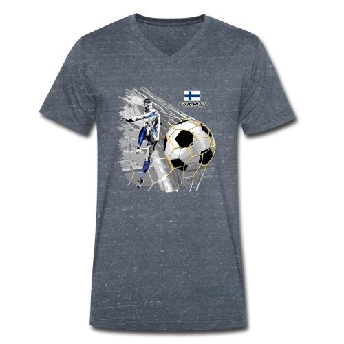 FINLAND FOOTBALL SOCCER PLAY T SHIRTS, GIFTS etc. - Stanley & Stellan miesten luomupikeepaita