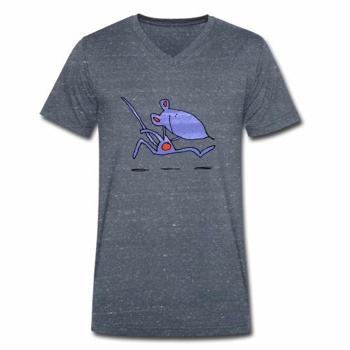 muis op de loop - Mannen bio T-shirt met V-hals van Stanley & Stella