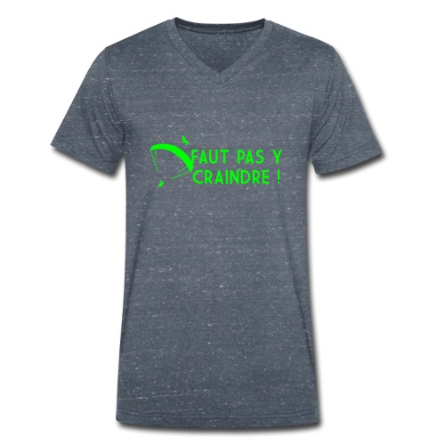 Faut pas y craindre - Parapente - T-shirt bio col V Stanley & Stella Homme