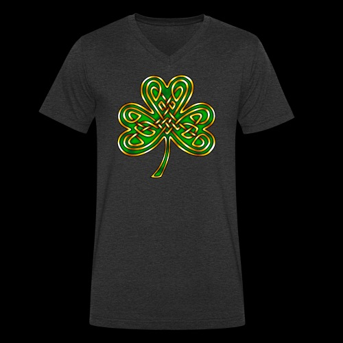 Celtic Knotwork Shamrock - Men's Organic V-Neck T-Shirt by Stanley & Stella
