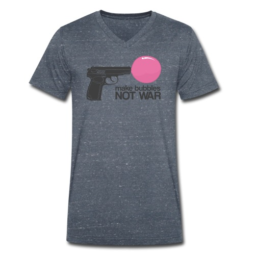 Make bubbles not war - Men's Organic V-Neck T-Shirt by Stanley & Stella