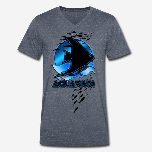 Fish aquarium keeper - Mannen bio T-shirt met V-hals van Stanley & Stella