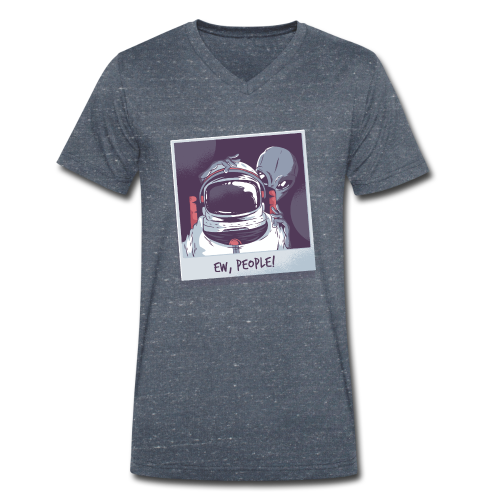 Aliens and astronaut - Men's Organic V-Neck T-Shirt by Stanley & Stella