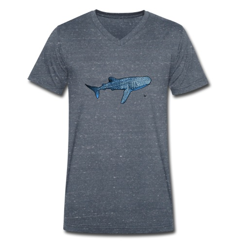 Whale shark - T-shirt ecologica da uomo con scollo a V di Stanley & Stella