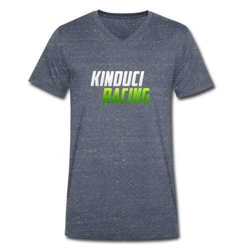kinduci racing logo - Men's Organic V-Neck T-Shirt by Stanley & Stella