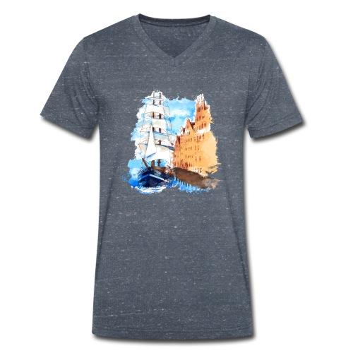 Großsegler - Männer Bio-T-Shirt mit V-Ausschnitt von Stanley & Stella